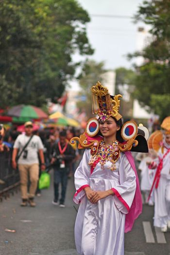 Fashion Carnival People Real People Men Festival Women Celebration Day Standing Outdoors Event Costume Clothing Adult Lifestyles Traditional Clothing Group Of People Focus On Foreground Incidental People Jember Fashion Carnaval
