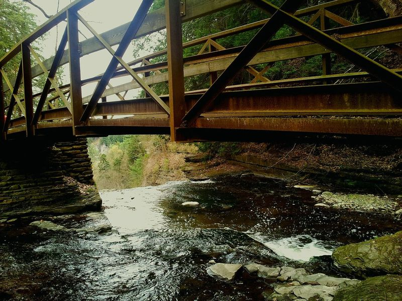 Bridge - Man Made Structure Engineering Connection Water No People Waterfall_collection Upstate_newyork Letchworth - The Grand Canyon Of The East