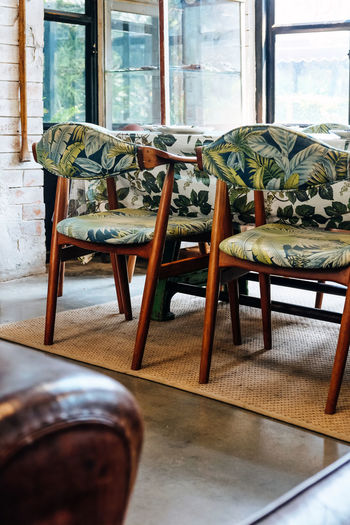 Chairs and table at home