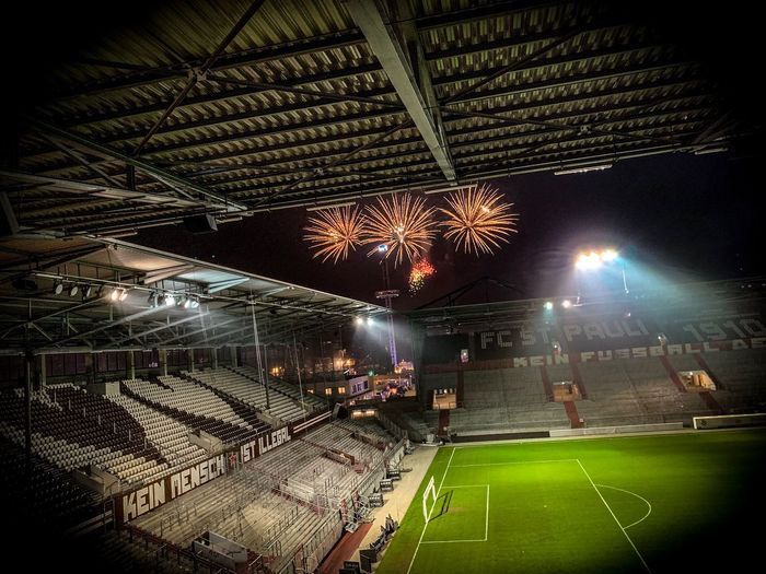 FC St Pauli FCSP FCSP Soccer Fcstpauli Stpauli Football Night Illuminated Crowd Stadium Arts Culture And Entertainment Group Of People Lighting Equipment