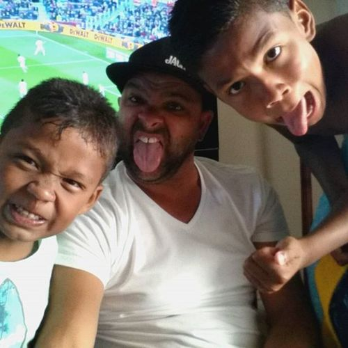 Me & the Gremmos watching Barcelona vs Granada in Langebaan FunnyFaces