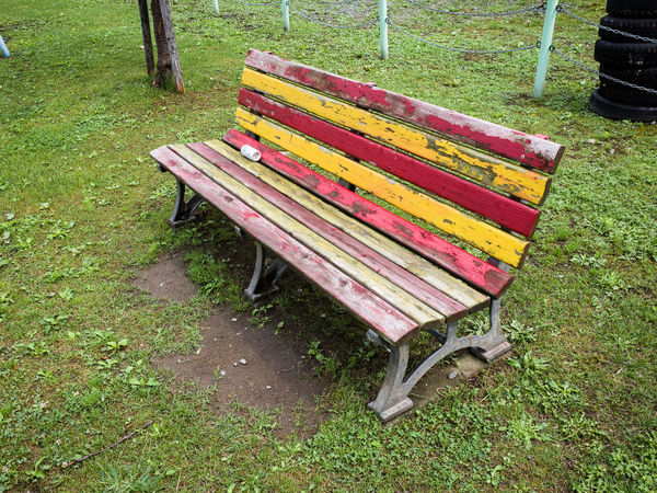Benches Wooden Abandoned Bench Hokkaido Japan Multi Colored No People Park Wooden Bench