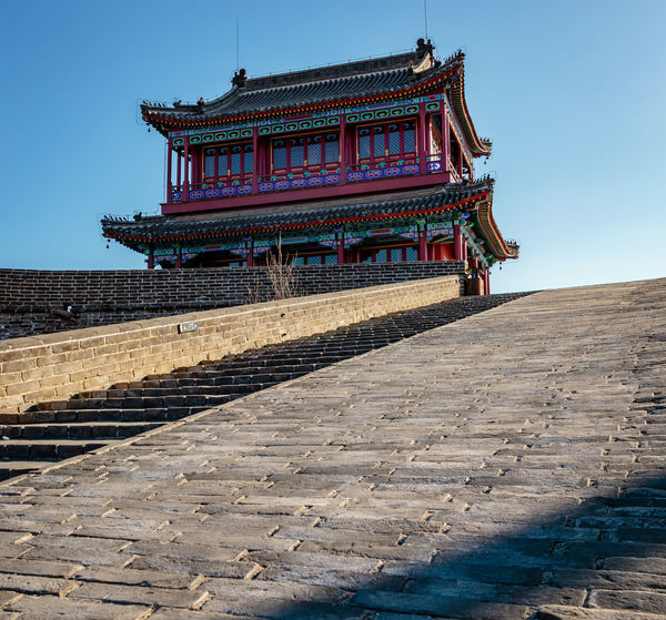 Ancient History Archaeological Site Architecture Castle Great Wall Hebei Sunlight Tourist Ancient Civilization Attraction Building Exterior Built Structure China Chinese Clear Sky Fortification Historic Site History Landmark Low Angle View Military No People Qinhuangdao Shanhaiguan Steps