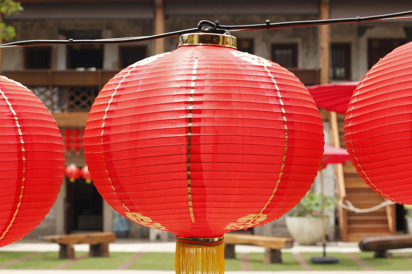 Red Lantern in Chinese style. Chinese Style. Red Lantern In Chinese Style. Belief Built Structure Celebration Chinese Lantern Close-up Day Decoration Festival Focus On Foreground Hanging In A Row Lantern Lighting Equipment No People Outdoors Paper Lantern Red Red Lantern Red Lantern Hot Pepper Red Lanterns Red Lanterns China Red Lanterns For Chinese New Year Religion