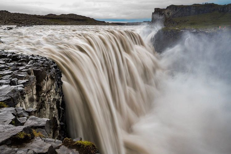 View Of Dettifoss Waterfall