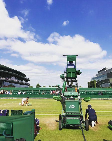 Tennis Ball Boy Robinsons Evian Water Wimbledon Sky Cloud - Sky Grass Nature Plant Day Group Of People Sport