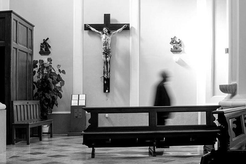 B&W Collective B&W Collection Monochrome Monochrome _ Collection Blackandwhite Photography Church Crucifix Mosso Passage