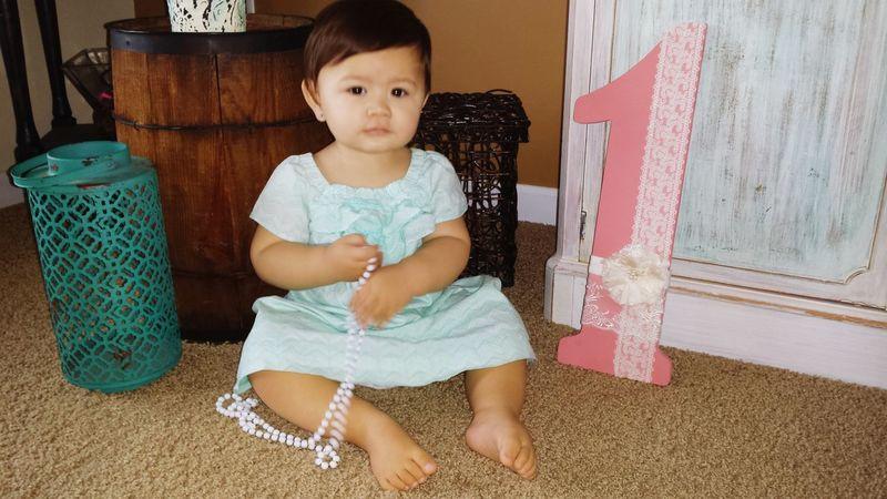 First Birthday Firstborn Half Samoan Half Caucasian St. Patrick's Day Baby