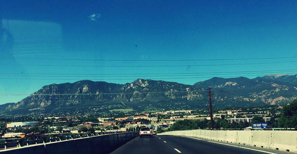 On the Road // Road Street Mountains View Colorado Simple Photography