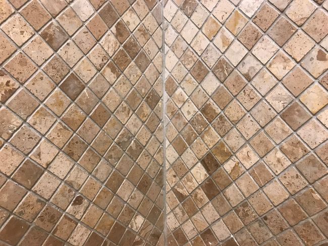 Abstract cube brick block wall pattern textured background. Cube Block Backgrounds Full Frame Pattern Textured  No People Brown Flooring Wall - Building Feature Built Structure Day Shape Tile Metal Architecture Sunlight Close-up Design Outdoors Rough Nature