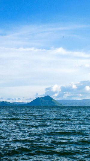 Up close and personal with a shy volcano. Taal Taal Volcano Taal Lake Batangas, Philippines Water Sea Blue Rippled Backgrounds Full Frame Beach Sky Tranquil Scene Scenics Calm Tide Horizon Over Water Wave Countryside The Great Outdoors - 2018 EyeEm Awards