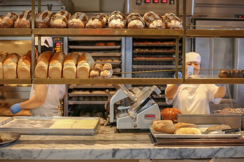Bakery Bread Bakery Food And Drink Food Loaf Of Bread Baking Bread Baker - Occupation No People Food And Drink Establishment Croissant Preparation  French Food Wholegrain Occupation Commercial Kitchen Indoors  Store Freshness Baked Working