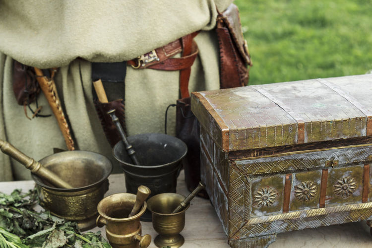 Box Treasure Vintage Style Close-up Cultures Day Freshness Handmade Herbal Herbal Medicine Medieval Misterious Mistery No People Outdoors Religion Spice Spices Spirituality Table Tradition Treasure Chest Trunk Vintage Water
