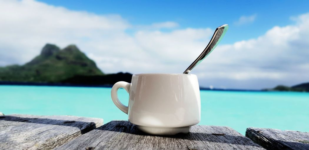 Coffe in paradise. wonderful break in one of the most beatiful place of the word. Bora bora sea . Relax and enjoy the heaven Relax Holidays Honeymoon Spoon Lavazza Bora Bora  Island Heaven Paradise Break Work Ocean Surf Kite Surf Clean Clear Water Water Drink Relaxation Coffee Break Coffee - Drink Tea - Hot Drink Drinking Straw Drinking Coffee Cup Milk Mocha Cappuccino Coffee Caffeine