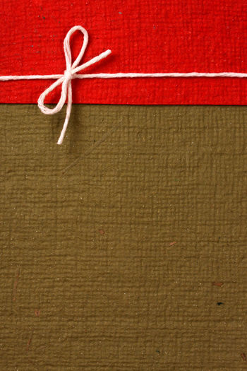 Close-up of wrapped gift
