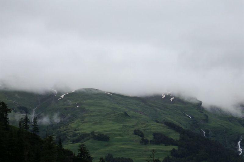 Manali ,Himachal Pradesh Solangvalley Snowonthemountain Cloudsontop