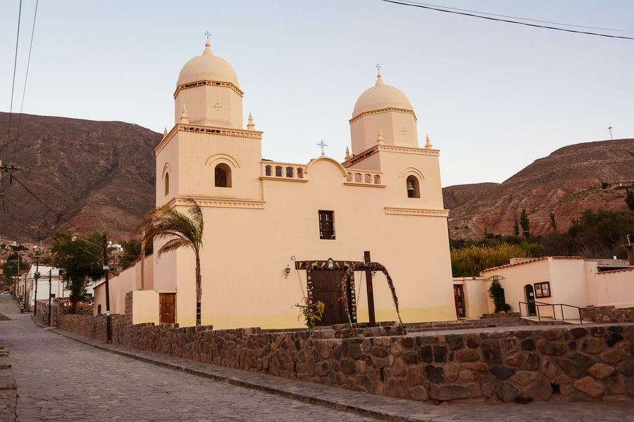 Church of Tilcara (Argentina) America Andes Architecture Argentina Church City Ciudad Dome Humahuaca Iglesia Jujuy Landmark No People Our Lady Of The Rosary Place Of Worship Pueblo Quebrada Religion Street Tilcara Tilcara, Jujuy. Village
