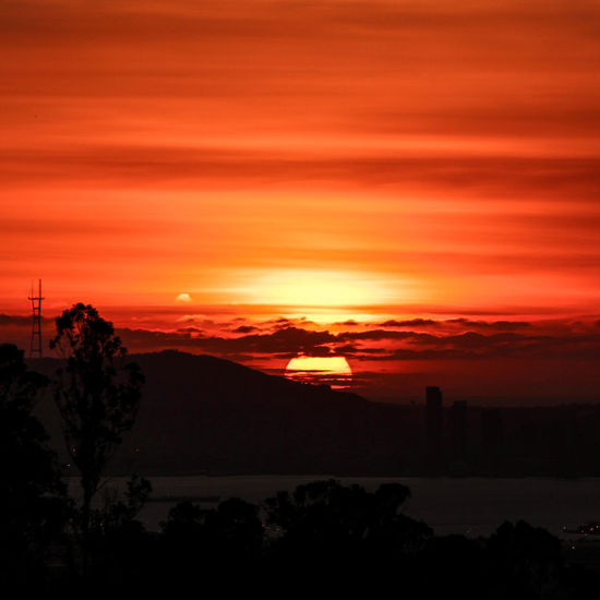 Sunset from the East Bay Autumn Bay Area Bright Colors California Dramatic Sky Emotions Nature Orange Silhouette Skyline View Clouds Dusk Fall Hill Horizon Over Water Low Sun Nopeople San Francisco Bay Sky Summer Sun Sunset Sutro Sunset Sutro Tower First Eyeem Photo