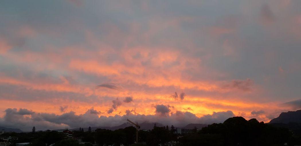 Sunset like Fire! Colorful Sky And Clouds Mountain Sunset Dramatic Sky Sky Cloud - Sky Landscape Atmospheric Mood