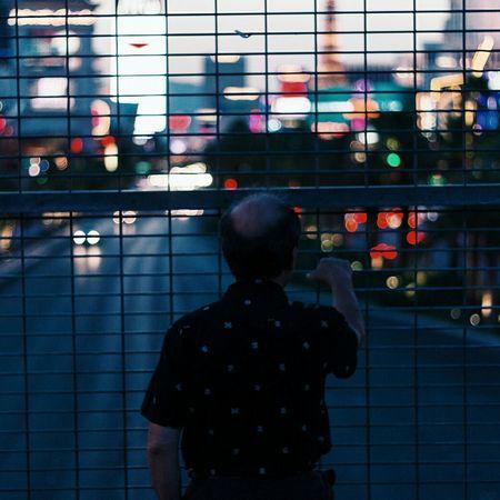 """""""Man overlooking las vegas strip"""" 2015 People Portrait People Watching Street Photography Las Vegas Street Urban Landscape Street Portrait Night Photography"""