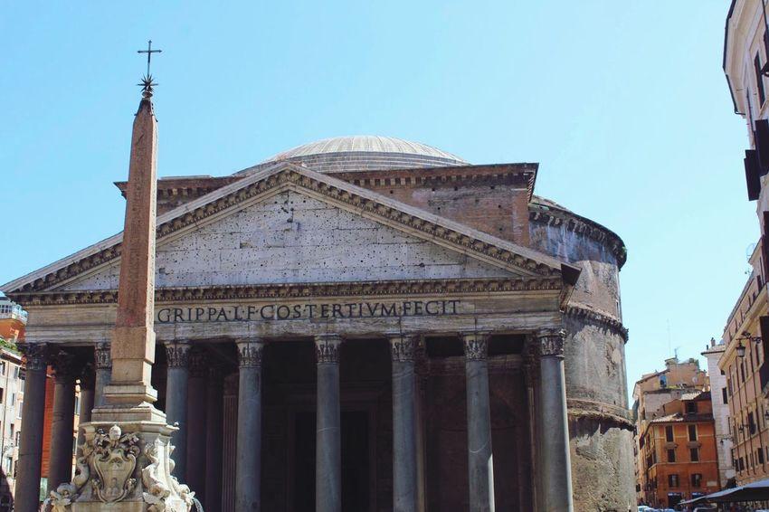 Pnateón 🇮🇹 Architecture Built Structure Building Exterior Architectural Column History Travel Destinations Outdoors Day Ancient Civilization City Rome Italia