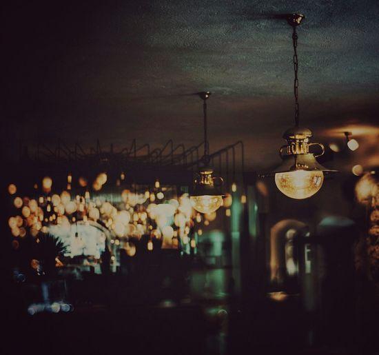 EyeEmNewHere Bokeh Indoors  Bar Lamps Lanterns Night Nightcafe