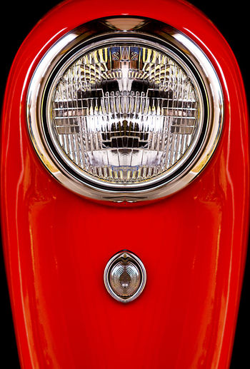 Headlight Close-up Land Vehicle Red Mode Of Transportation Transportation No People Metal Car Lighting Equipment Motor Vehicle Shiny Retro Styled Chrome Vintage Car Indoors  Vehicle Part Studio Shot Full Frame Luxury Silver Colored Wheel Vehicle Light Electric Lamp