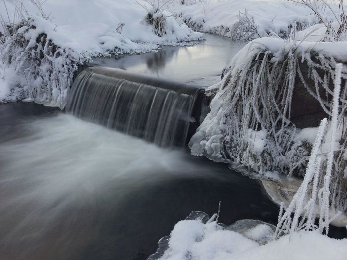 Cold river Blurred Motion Landscape Winter River Winter Landscape River Winter Nature Ice Beauty In Nature Cold Temperature Water Scenics Waterfall Snow Motion Frozen No People Outdoors Day Long Exposure
