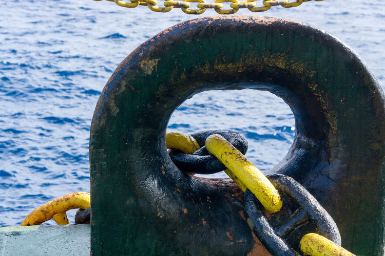 Water Chain Metal No People Sea Day Close-up Nature Transportation Outdoors Bits Office Building Exterior Oil And Gas Marine Nautical Mooring Wave Offshore Platform Oilfield Barge