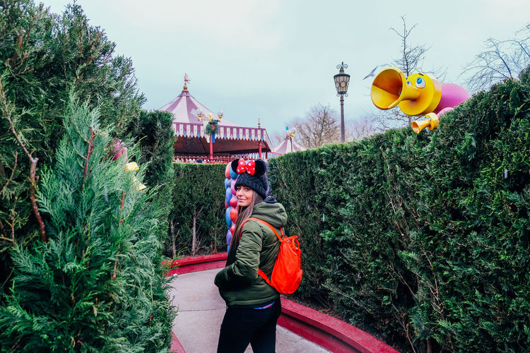 Girl in a maze in Disneyland Paris Disney Disneyland Disneyland Paris Fun Maze Millenials Paris Adventure Amusement Park Architecture Building Exterior Built Structure Day Growth Lifestyles Nature One Person Outdoors People Plant Real People Sky Tree Young Adult Young Women
