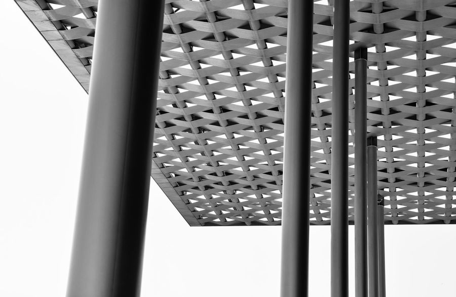 Architecture_bw Steel Structure  Theatre Urban Black And White Architectural Detail Cityscape Bahrain