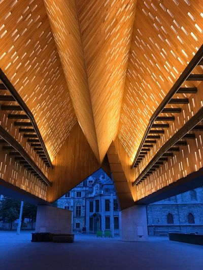 Belfort, Ghent Architecture Built Structure Ceiling Indoors  No People Building Exterior Day Ghent City Architecture Illuminated Shadow Belfort Market Stall Orange Pattern
