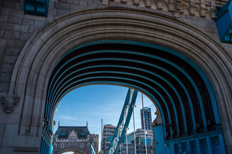 Arch Architectural Feature Architecture Archway Built Structure Capital Ceiling City Culture Design Famous Place History International Landmark London Low Angle View Pattern Tower Bridge  London Lifestyle