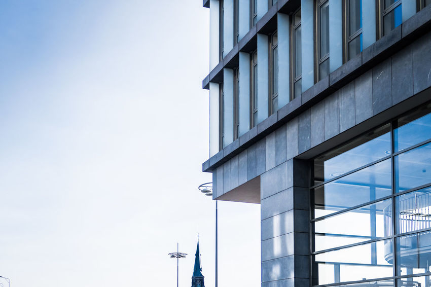 Modern architecture in Maastricht Architecture Building Exterior Built Structure City Clear Sky Concrete And Glass Day Glass Modern Architecture Netherlands No People Sky