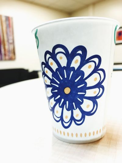 Closeup picture of a cup with a flower Table Flower Indoor LakeForest Work EyeEmNewHere