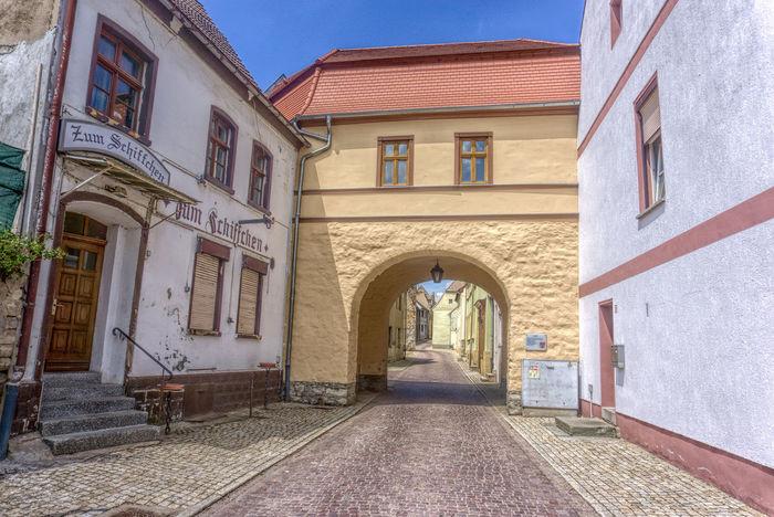 Historisches Saaltor (Stadttor) in Könnern, Sachsen-Anhalt. 26 Km hinter Halle-Trotha. Architecture Building Exterior Built Structure Day HDR No People Outdoors Sky