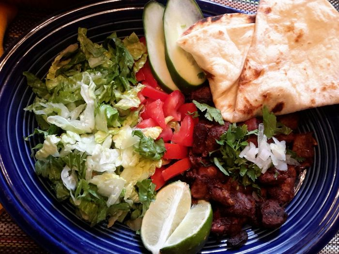 Mexican Food Mexican Traditions Pork Carnitas Tacos Carnitas Appetizer Vegetable Garnish Homemade Close-up Food And Drink