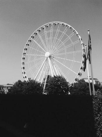 Ferris Wheel Amusement Park Arts Culture And Entertainment Circle Amusement Park Ride Big Wheel No People