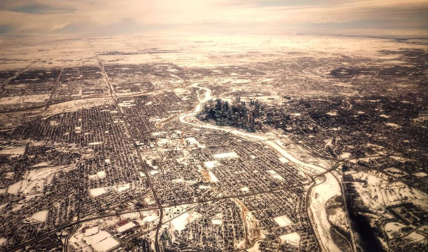 Calgary, Winter Wonderland Winter Winter Wonderland Calgary YYC Alberta Canada City Cityscape White Snow Sunset Landscape Nature Scenics Outdoors Cloud - Sky Sky Aerial View Tranquility No People Backgrounds