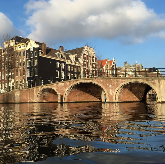 Amsterdam Canal Boat Ride on the River Amstel Water Reflections Showcase: February Enjoying The Sun My Point Of View Enjoying The View Urban Landscape
