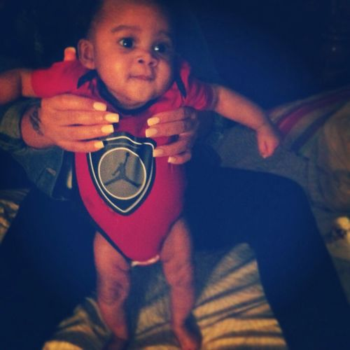 My Lil Man Standing Up For The Frist Time !