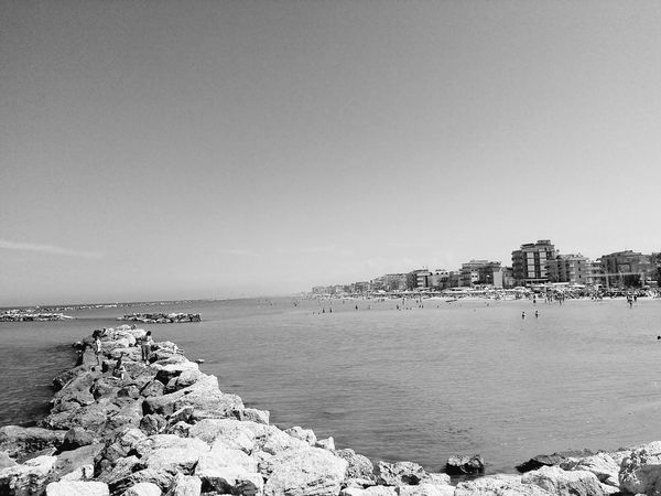 Beach Sea Water Day Sky Vacations Pebble Horizon Over Water Nature Summer Tranquility Italy Landscape Beauty In Nature Bellariaigemarina Rimini Sand Community