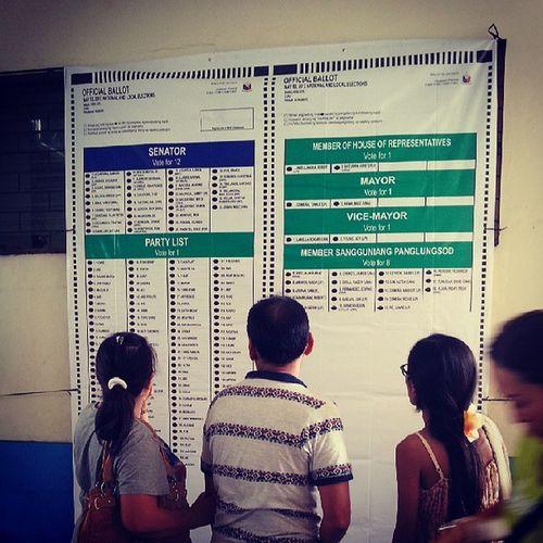 Official ballot. Election Eleksyon Halalan Dapattama akoangsimula vote votewisely right future cebu pinas myvote notforsale