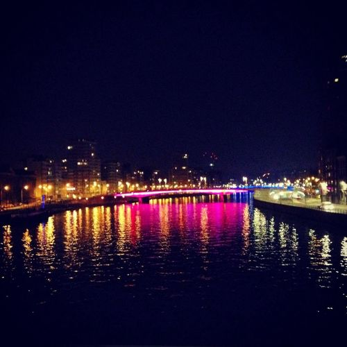Liège Nightphotography View Hello World