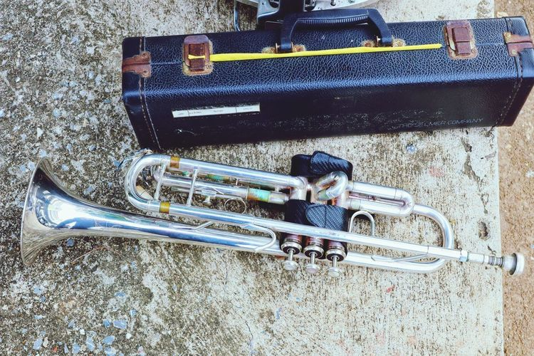 EyeEm Best Shots Music Musical Instrument Trumpet High Angle View Close-up Woodwind Instrument Brass Instrument