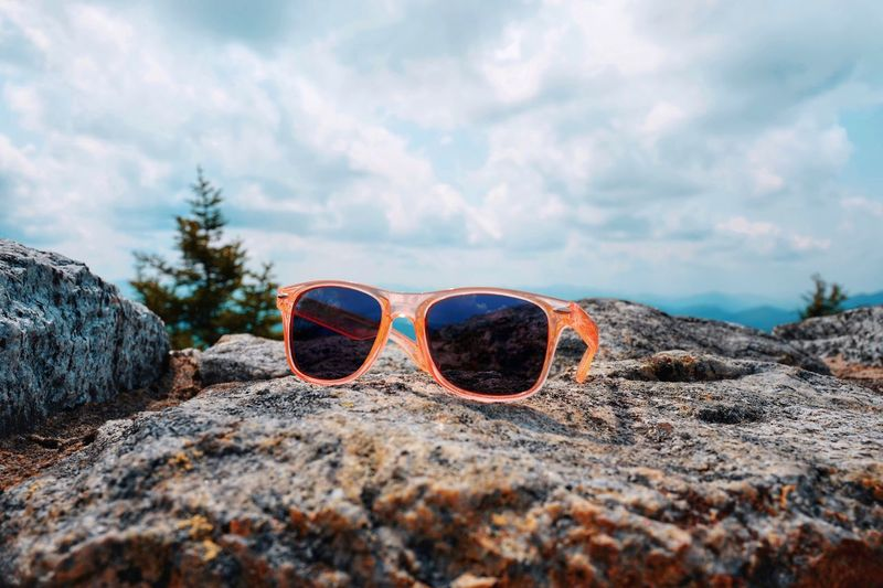 World in My Eyes Still Life Natural Beauty Summer Memories 🌄 Summer Lifestyles Rocks And Sky Rocks Rock Mountains And Sky Mountain View Mountains Mountain Cloud - Sky Sky Land Nature Fashion Day Sunglasses Glasses No People Tranquility Beauty In Nature Outdoors Scenics - Nature Tranquil Scene Personal Accessory Sunlight Protection
