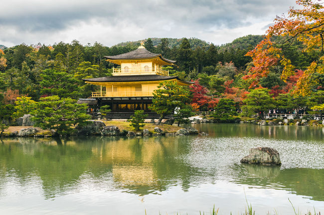 Kinkakuji Temple Architecture Autumn Beauty In Nature Building Exterior Built Structure Cloud - Sky Day Lake Nature No People Outdoors Reflection Scenics Sky Tree Water Waterfront