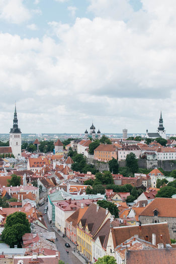 Architecture Building Exterior Built Structure City Cityscape Cloud - Sky Day Estonia No People Outdoors Roof Sky Tallinn Tiled Roof  Tree