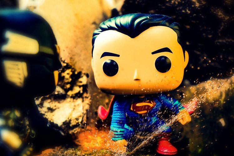 Night Close-up No People Multi Colored Outdoors Superman Justice League Toyphotography Funkopop Sony Funko DC Comics Toysphotography Photooftheday Popvinyl Jakarta INDONESIA