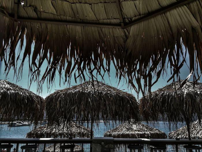 Sky Umbrellas Beach Beach Time Beach Photography Beach Umbrella Hollidays Greek Summer Greek Island Greek GREECE ♥♥ Greece Memories
